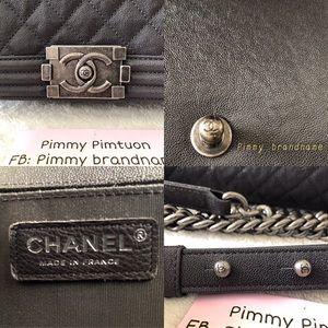 CHANEL Bags - Chanel Boy Ruthenium MediumBlack Caviar Leather